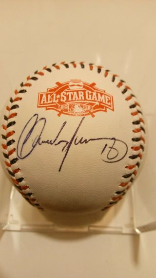 Carlos Martinez Autographed 2017 Mlb All Star Game Baseball Cardinals Jsa.