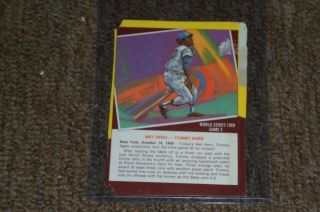 Tommy Agee 1969 Ny Mets World Series Game 3 Box Back
