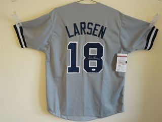 Don Larsen Signed Auto York Yankees Grey Jersey Jsa Autographed