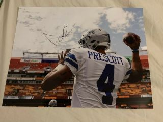 Dak Prescott Signed Auto 11x14 Photo Dallas Cowboys