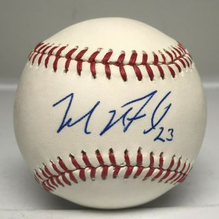 Michael Brantley Signed Baseball Autographed Auto Beckett Bas Astros Indians