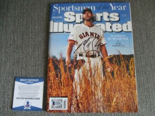 Madison Bumgarner Giants Signed 2014 Si Man Of The Year Beckett Bas