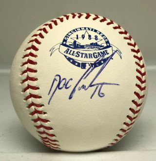 Dwight Doc Gooden Signed 1988 All Star Game Baseball Autographed Jsa Mets