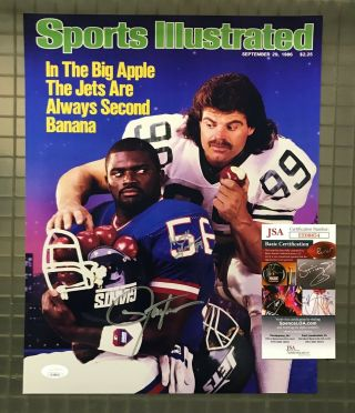 Lawrence Taylor & Mark Gastineau Signed 11x14 Photo Jsa Ny Jets Giants Hof