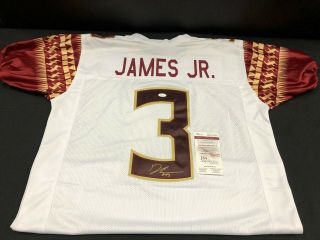 Derwin James Florida State Seminoles Signed Stitched Jersey Jsa Witness Wp554789