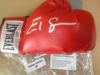 Errol Spence Jr Signed Boxing Glove Leaf Authenticated Auto