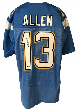 Keenan Allen Signed Pro Style Custom Powder Blue Jersey Beckett Authenticated