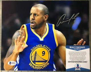 Andre Iguodala Golden State Warriors Signed Auto 8x10 Photo Beckett Bas