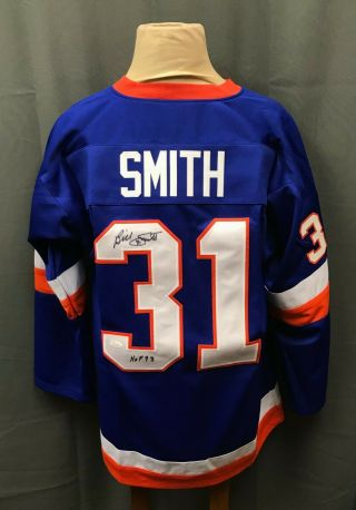 "Bill Smith "" Hof 1993 "" Signed Ny Islanders Jersey Auto Sz Xl Jsa Witnessed"