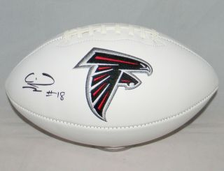 Calvin Ridley Autographed Signed Atlanta Falcons White Logo Football Jsa