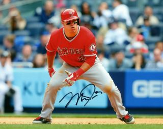 Mike Trout Angels 8x10 Signed Photo Authenticity Guaranteed