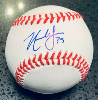 Nate Lowe Hand Signed Autograph Baseball Auto Tampa Bay Rays