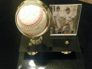 """ Mr.  Baseball "" Tom Selleck Frank Thomas Autographed Baseball With Case & Card"