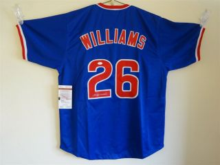 Billy Williams Signed Auto Chicago Cubs Blue Jersey Jsa Autographed
