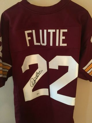 Doug Fluite Signed Jersey Boston Collage Beckett England Patriots Auto