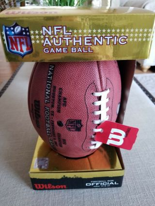 Nfl Authentic Game Ball Official Still In Pack