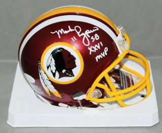Mark Rypien Signed Autographed Washington Redskins Mini Helmet Sb Xxvi Mvp,  Jsa