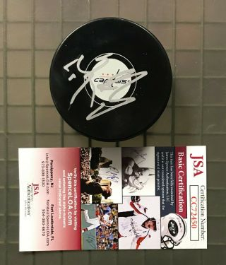 Braden Holtby Signed Washington Capitals Hockey Puck Autographed Auto Jsa