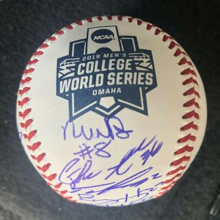 2019 Louisville Cardinals Signed College World Series Game Ball
