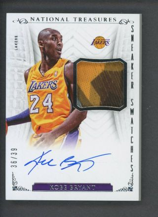 2013 - 14 National Treasures Sneaker Swatches Kobe Bryant Shoe Patch Auto /39
