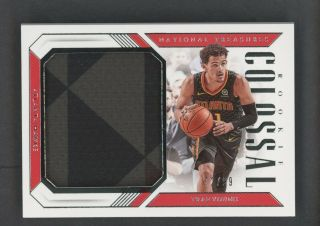 2018 - 19 National Treasures Colossal Trae Young Rc Rookie Jumbo Patch 72/99