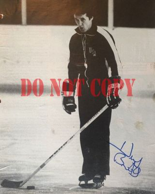 Herb Brooks Signed 8 X10 Photo Us Olympic Hockey Miracle On Ice Reprint
