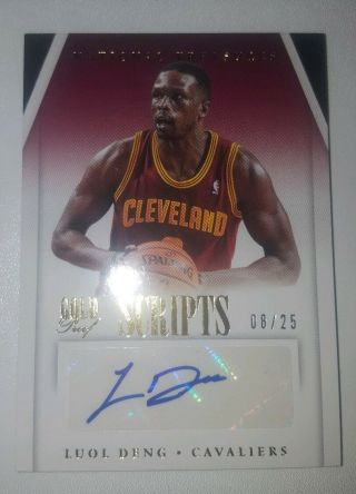 """Luol Deng 2013 - 14 National Treasures """" Gold Proof Scripts """" Auto"""