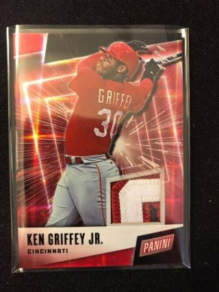 2019 Panini Fathers Day Ken Griffey Jr 3 Color Clr Jersey Patch True 1/1