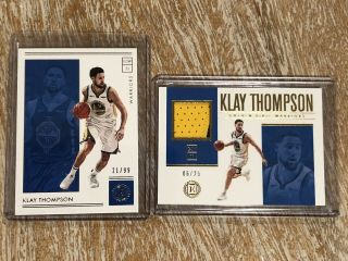 Klay Thompson 2018/19 Encased Game 2 Color Patch 'd 06/25 Gs Warriors Ssp