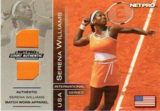 2003 Net Pro Serena Williams Court Authentic Match Worn Outfit Apparel 069/500