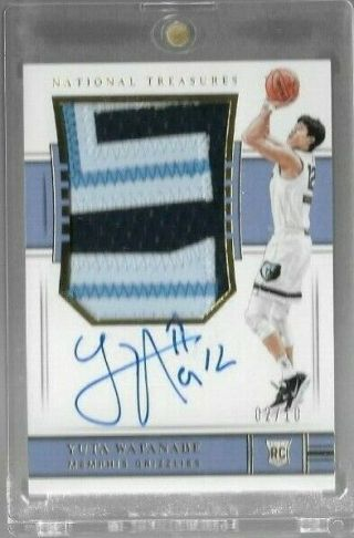 Yuta Watanabe 2018 - 19 National Treasures Basketball Rpa Rookie Jersey Auto 2/10