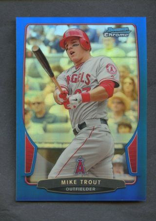 2013 Bowman Chrome Blue Refractor Mike Trout Angels /250