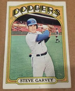 1972 Topps Steve Garvey / Baseball Card High Hi 686 / Crease Look