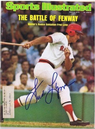 Fred Lynn Signed Sports Illustrated S.  I.  - Boston Red Sox - Baltimore Orioles