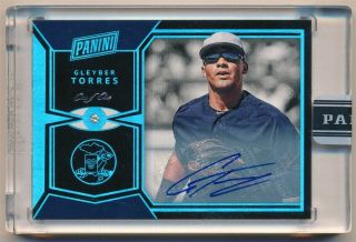 Gleyber Torres 2017 Panini The National Rc Rookie Diamond Autograph Sp Auto 1/1
