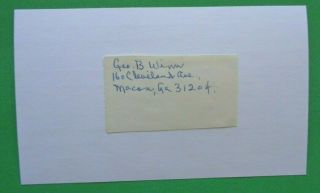 George Winn 1919 Boston Red Sox Cut Signature On Index Card
