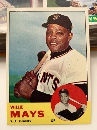 1963 Topps 300 Willie Mays San Francisco Giants Hof Card Grade It