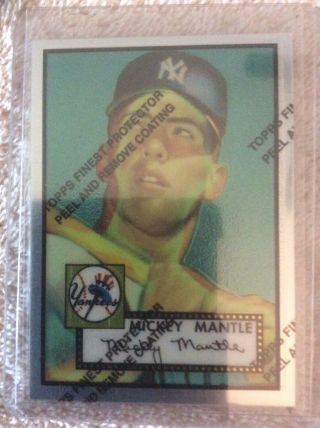 Topps 1996 Mickey Mantle York Yankees 311 Refractor Baseball Card