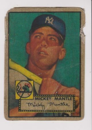 1952 Topps 311 Mickey Mantle Rookie Card,  York Yankees Hof