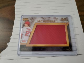 2019 Mike Trout Hits Memorabilia Made Materials 6/10 - Angels