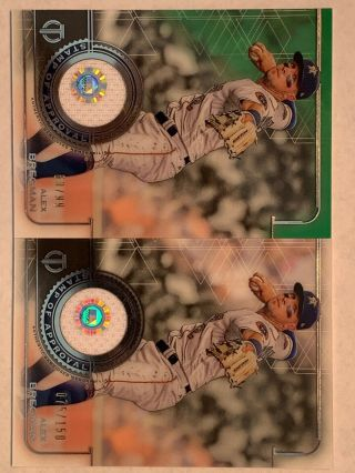 2 Alex Bregman 2019 Topps Tribute Game Patch 60/99 & 75/150 Cards Astros