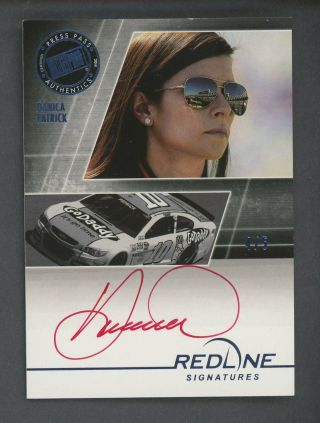 2014 Press Pass Nascar Racing Red Line Danica Patrick Red Ink Auto 4/5