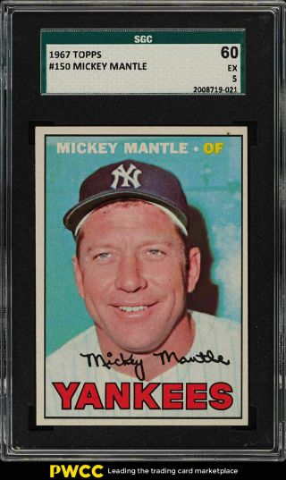 1967 Topps Mickey Mantle 150 Sgc 5 Ex (pwcc)