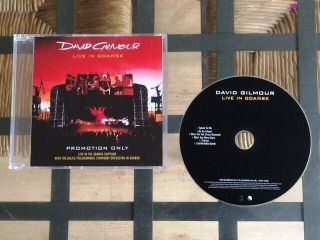 David Gilmour: Live In Gdansk - Rare Limited Edition Advance Uk Promo Cd Sampler