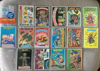 1986 Rare Garbage Pail Kids Giant Stickers Complete Set Of 15,  Wrapper