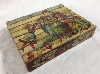 Rare Full Set Of Victorian 1880s Alphabet Christmas Picture Blocks