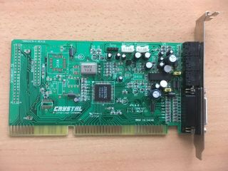 Rare Cirrus Logic Crystal Cx4235 Vintage Retro 16bit Isa 386 486 Pc Sound Card