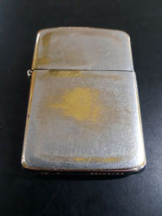 Rare Vintage 1933 - 1934 Zippo Lighter - 3 Barrel Outside Hinge