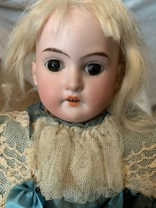 """Antique Porcelain Doll - Handsewn Clothes Over 100 Years Old Germany Bisque 14"""""""
