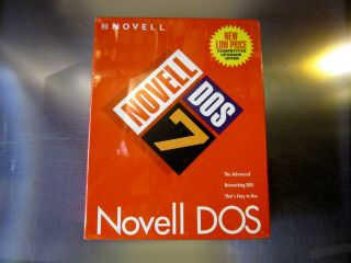 Novell 662644003757 Dos 7 Retail Boxed Rare Pc Vintage Bnib Software O/s